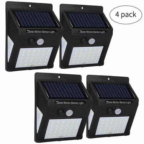 Garden Solar LED Security Lights Wireless Bright Outdoor  Wall Fence Lights x 4